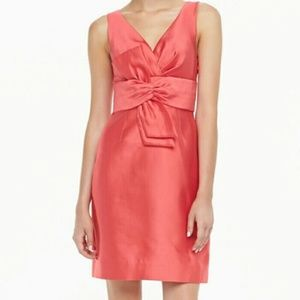 Kate Spade Mina Dress Hot Pink Silk Cotton Size 6